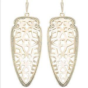 kendra scott - gold skylar arrowhead earrings